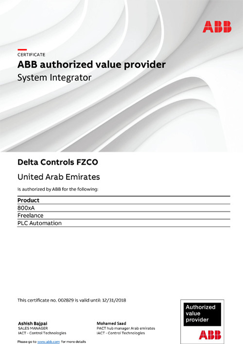 Our Partners – Delta Controls